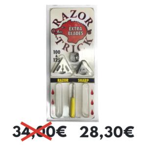 SLICK TRICK - RAZORTRICK PUNTA DE CAZA pACK DE 3 100g